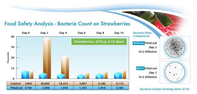 Bacteria Chart on Strawberries